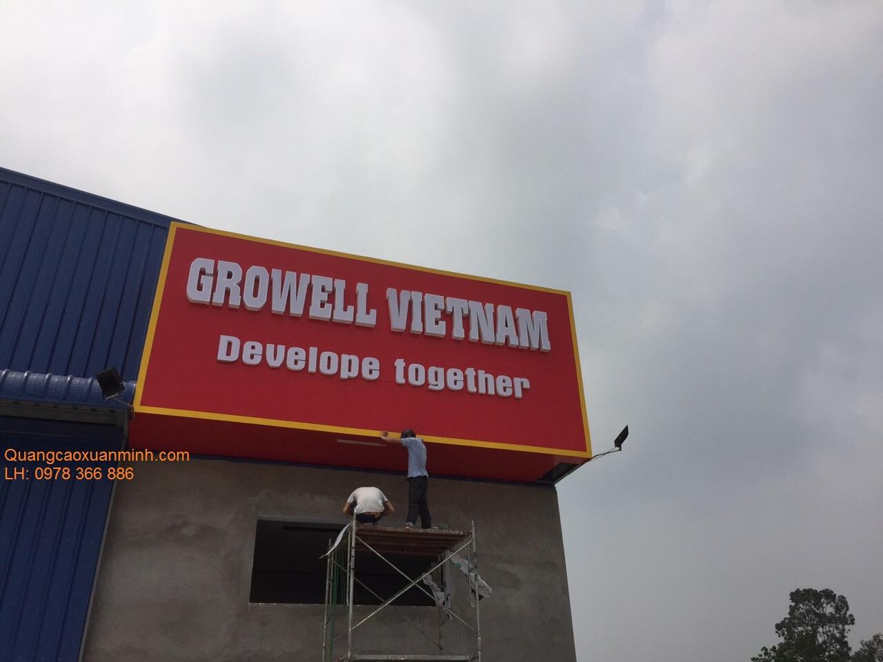 Biển-nhà-máy-Growell-Việt-Nam-Đông-Anh-HN