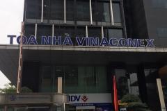 Biển tòa nhà Vinaconex Tower tại số 34 Láng Hạ