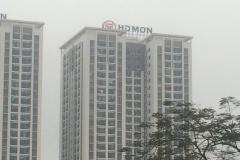 Biển tòa nhà HD Mon  City, Ngõ 4, Hàm Nghi, Nam Từ Liêm