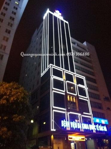 Đèn led trang trí tòa nhà