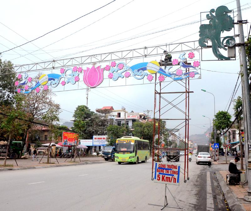 Trang trí led đường phố