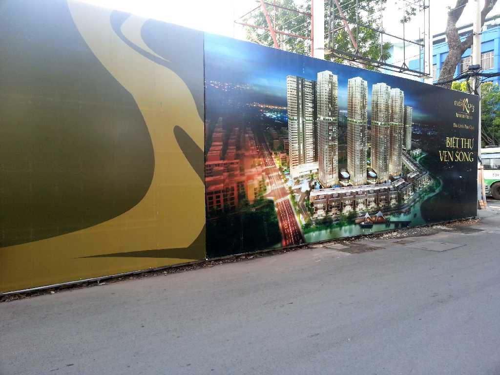 biển quảng cáo hàng rào dự án