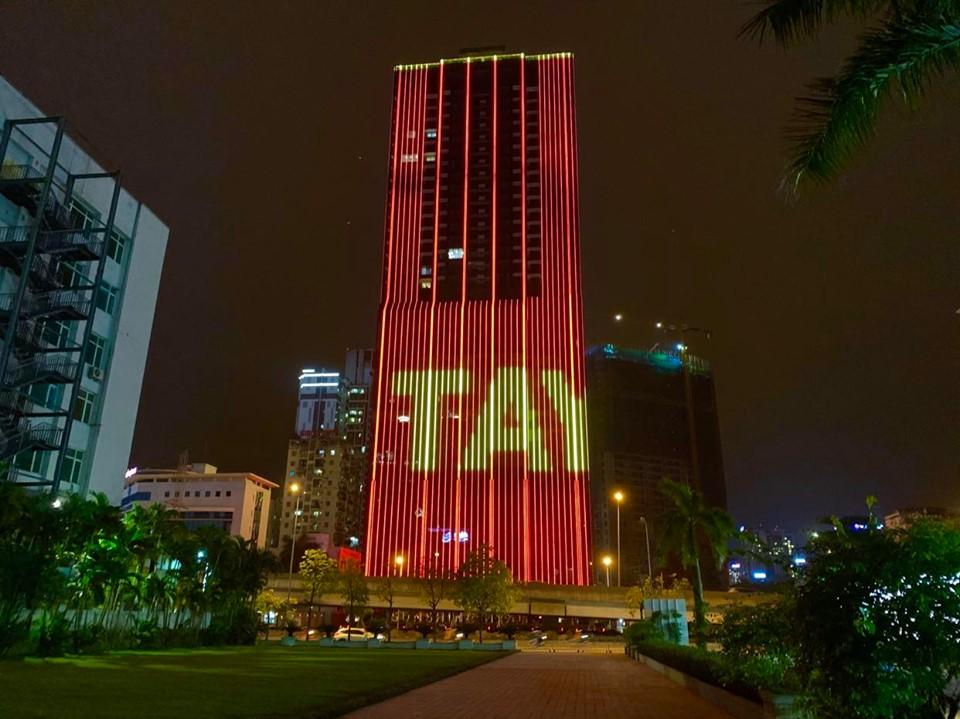 Led chiếu sáng tòa nhà tại Hà Nội