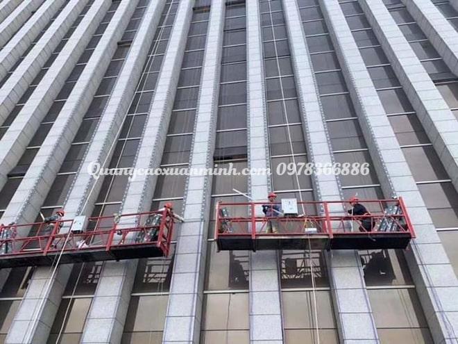 Led trang trí tòa nhà cao tầng